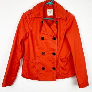 Old Navy Red Classic Peacoat Small